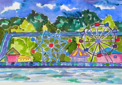 watercolor-SantaCruzFunPark624_large